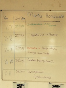 maths homework boards