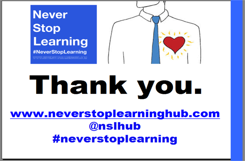#NeverStopLearning